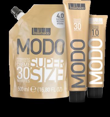 Hullabaloo Haarfarben MODO30 gibt es in 500ml Beutel, 200ml Tuben und MODO10 in 150ml Tuben